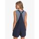 Roxy Somebody New Linen Pinafore Overall Shorts-Back