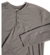 Deso Supply Co. Benton Long Sleeve Henley Men's Dark Slate Heather